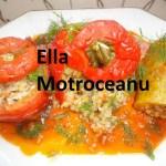 Ardei umpluti cu orez si ciuperci (de Ella Motroceanu)