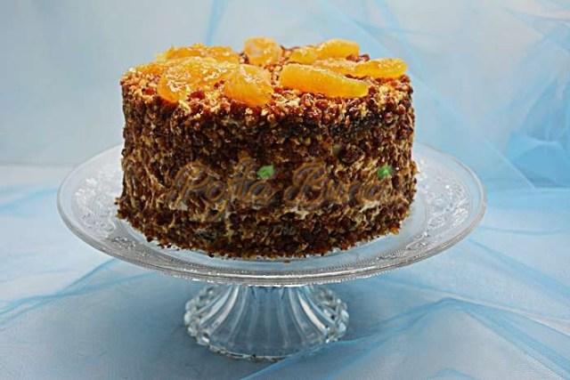 Tort cu nuca si portocale