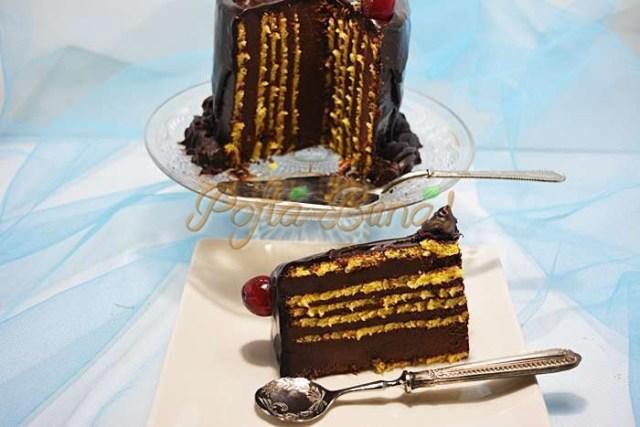 Tort rulada cu ciocolata