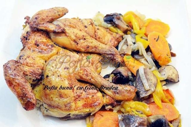 Friptura de pui cu legume la cuptor