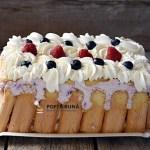 Tort cu iaurt si fructe de padure, fara coacere