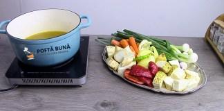 Concentrat natural de legume cu gaina pentru iarna