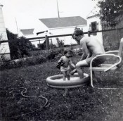 Dad and me cooling off.