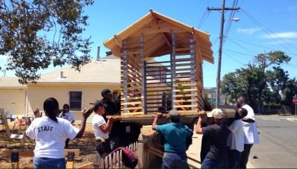 Child-sized playhouse