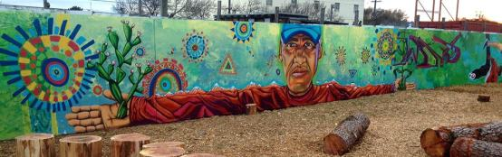 mural - outstretched arms