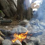 kaikoura free camping campfire