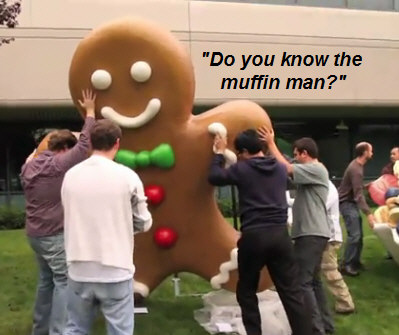 google-campus-gingerbread-man