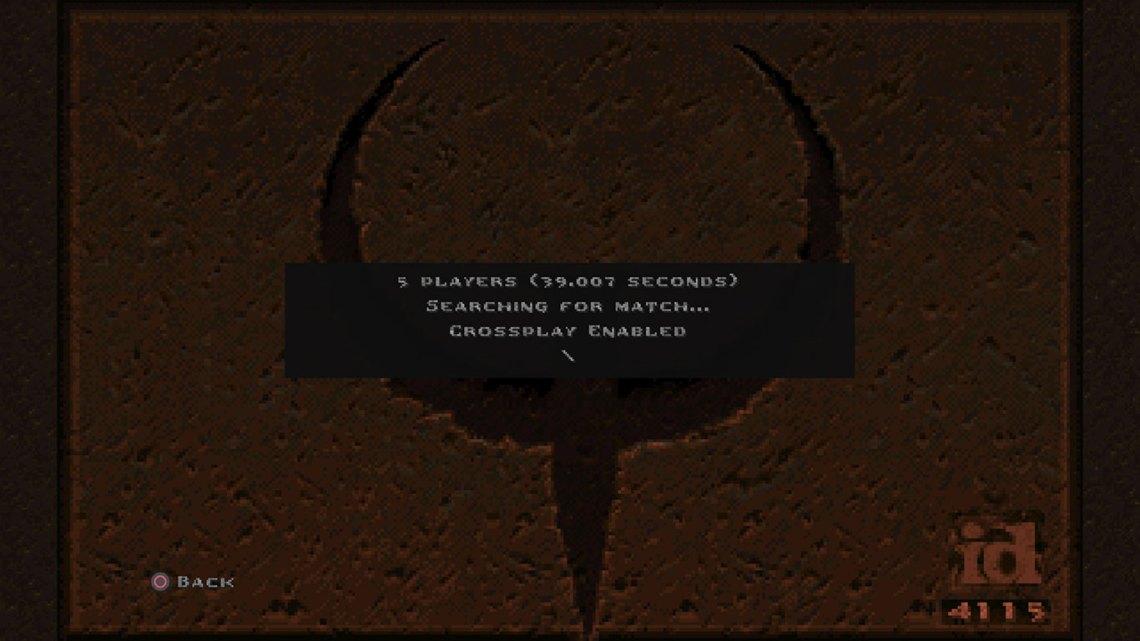 Nawet przy włączonym cross-playu, na sieciową rozgrywkę w Quake trzeba poczekać