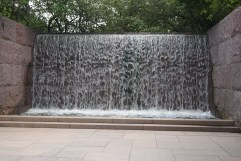 Water is a major feature of the memorial