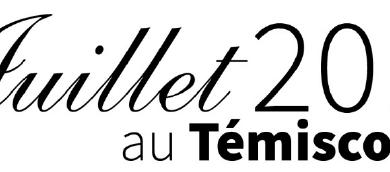Publication du calendrier culturel de juillet 2017 au Témiscouata