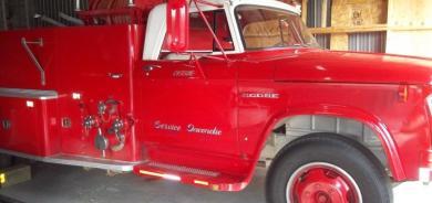 VENTE CAMION AUTOPOMPE DODGE 1964