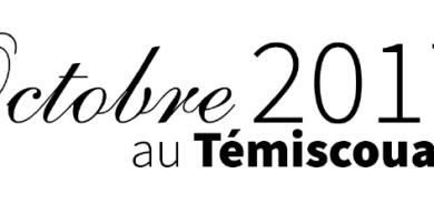 Le calendrier culturel d'octobre de la MRC du Témiscouata est maintenant disponible
