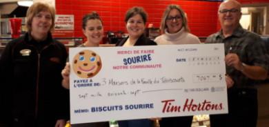 Campagne annuelle du Biscuit Sourire : une somme record pour les Maisons de la famille du Témiscouata