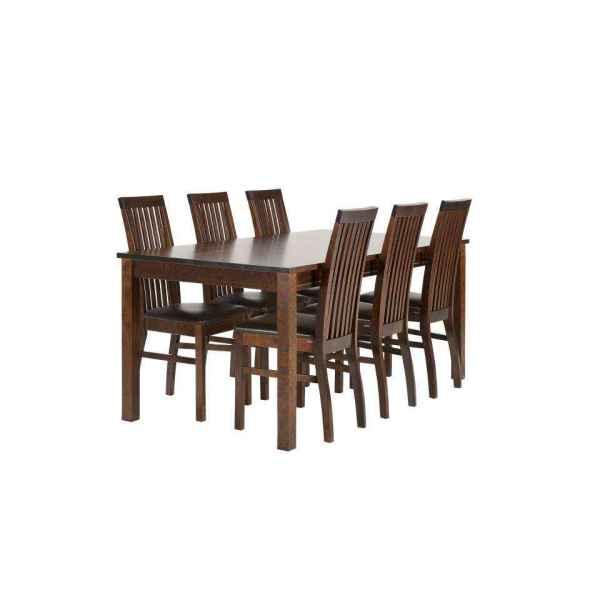 Classic-90x175-DarkWalnut ruokailupöytä ja tuolit