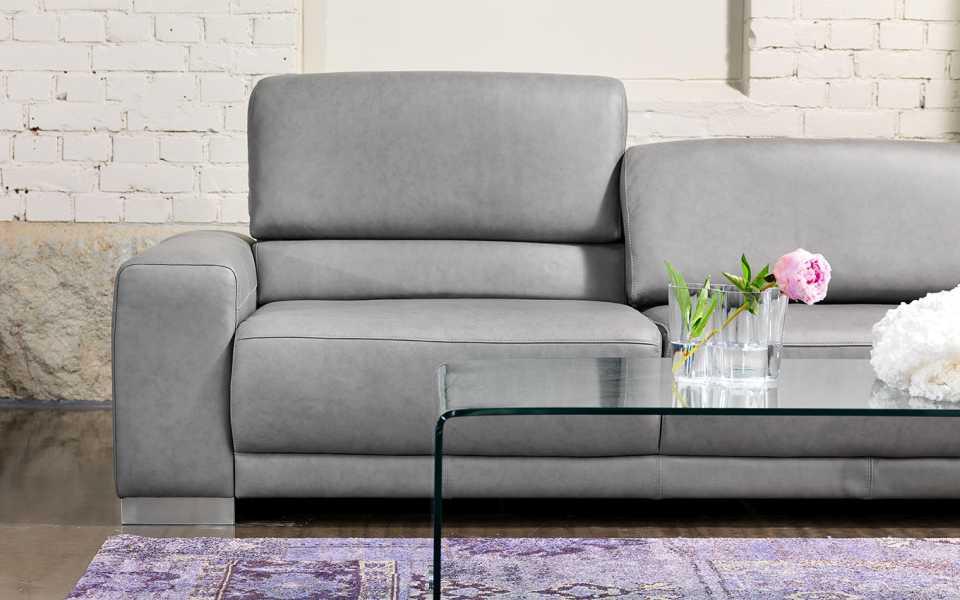 Copenhagen sohva nahka harmaa selkätyyny