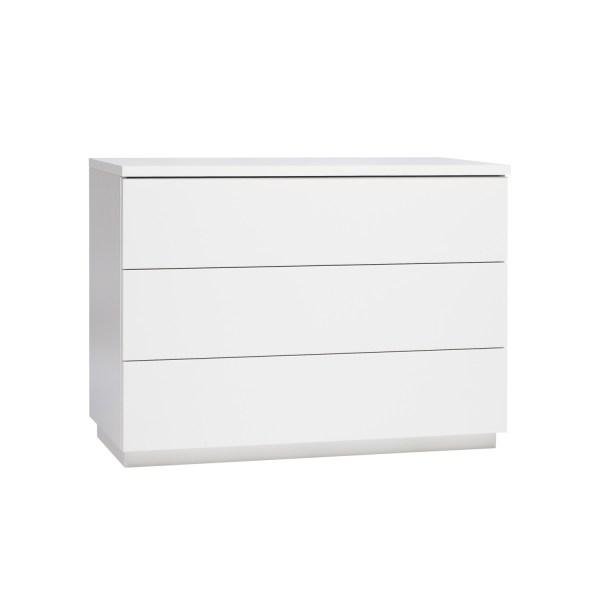 Anton leveä lipasto 3 laatikkoa valkoinen