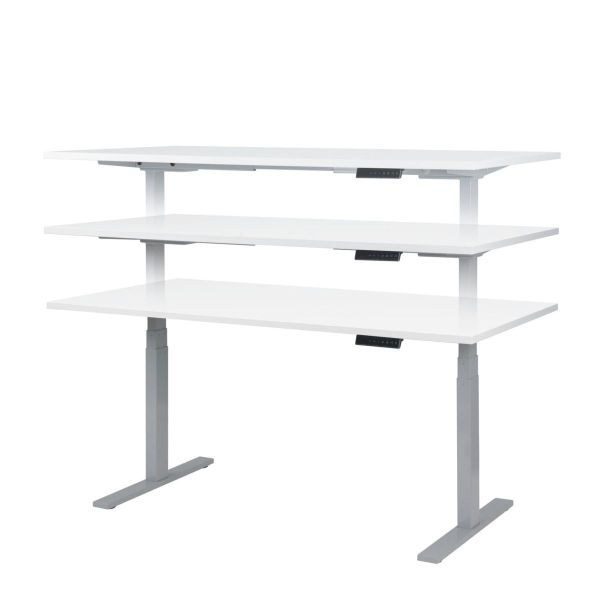 Classic duo plus säätöpöytä valkoinen