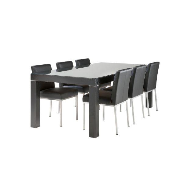 Zoom 100x200 ruokapöytä kuura tuoli musta