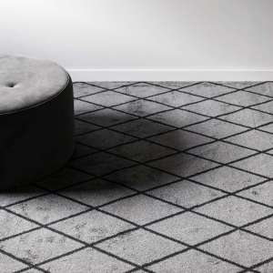 VM Carpetin Salmiakki harmaa-musta kokolaittiamatto