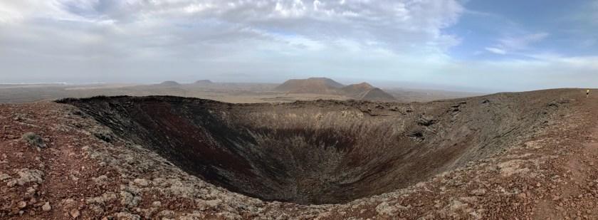 Kráter sopky Calderon Hondo