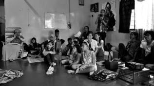 sesi latihan bersama kanak-kanak