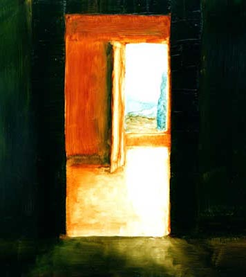 inset-of-doorways-oil-on-paper-by-michael-h-zack