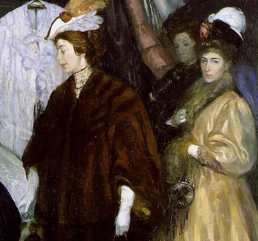 William Glackens The Shoppers Detail