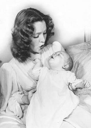 Barbara Baekland and son