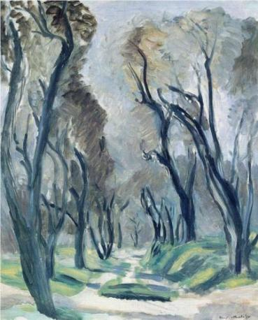 """Avenue of Olive Trees"" (1952, oil on canvas), by Henri Matisse"