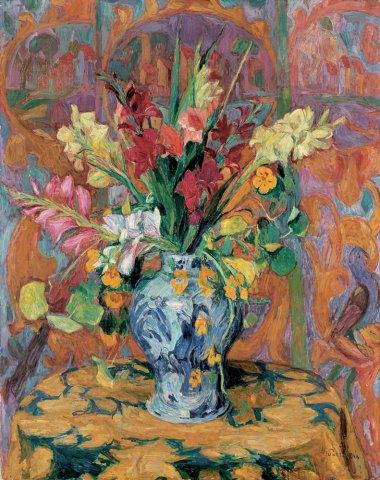 """Gladioli in a Japanese Vase"" (1921)"