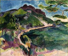 """""""Landschaft (Bei Cassis)"""" (1909, oil on canvas)"""