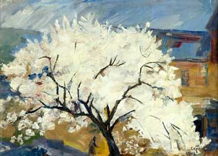 """Apricot Tree in Blossom"" (1942)by Martiros Saryan"
