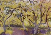 """""""Orchard in Bloom. Neskuchnoye"""" (1908)by Zinaida Zerebriakova"""