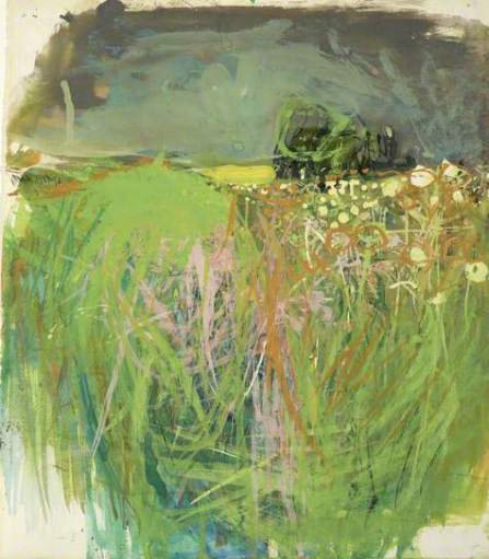 """""""Hedgerow with Grasses and Flowers"""" (c1962-63, gouache oil on paper)"""