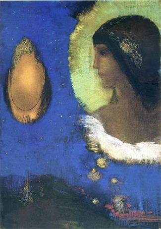 """Sita"" (1893, pastel over charcoals on paper)by Odilon Redon"