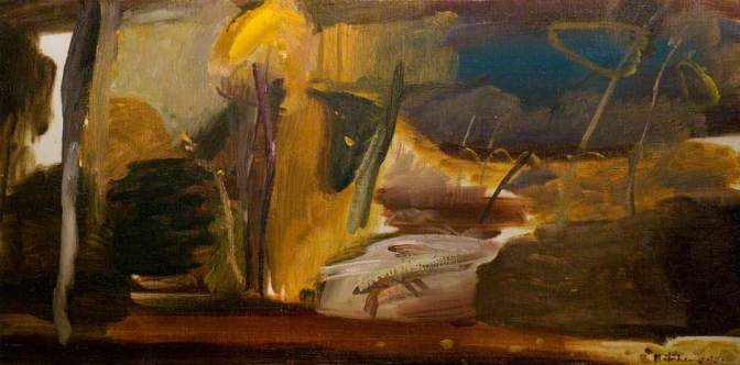 """""""Autumn Painting"""" (1945, oil on canvas)by Ivon Hitchens"""