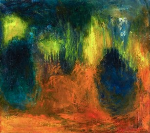 """""""Forest Vision"""" (1968, oil on canvas)by Violet Tenberg"""