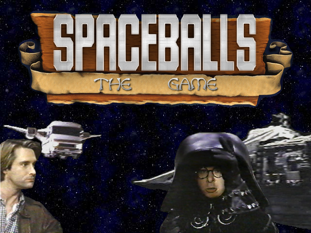 Photomanip of Spaceballs Movie Screenshots and Warcraft II Title Screen