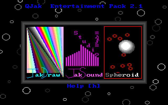 Screenshot of QJak Entertainment Pack Menu