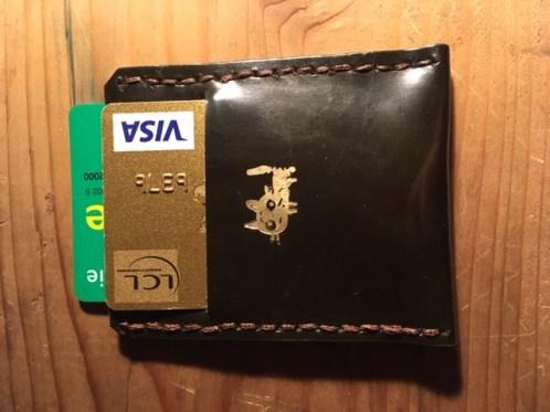 Porte carte plat en cuir patron libre et gratuit à télécharger