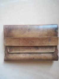 patron porte cartes en cuir sans coutures ni colle - apprendre maroquinerie et travail du cuir