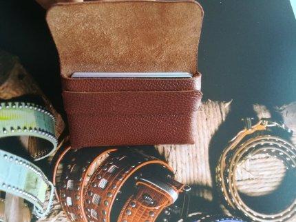 Porte cartes sans colle sans coutures en cuir - maroquinerie et travail du cuir, patron gratuit libre