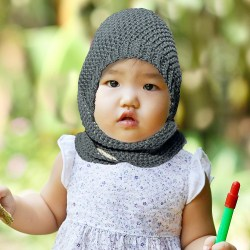 Little girl with bunny ears beanie wrapped copy