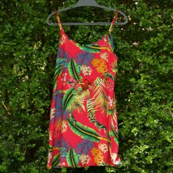 Nightie - Red Tropical