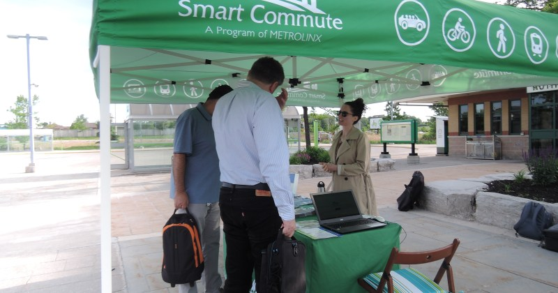 Smart Commute outreach at Rutherford GO station