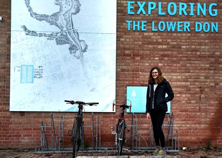 Lauren with her bicycle
