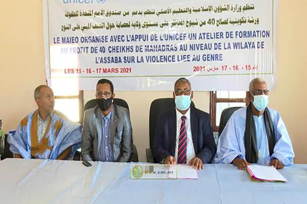 Assaba formation des cheikhs de Mahadras sur la lutte contre la violence basée sur le genre
