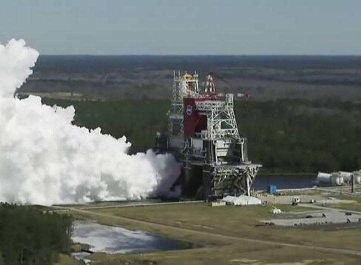 La Nasa réussit le dernier test de sa fusée SLS pour la Lune