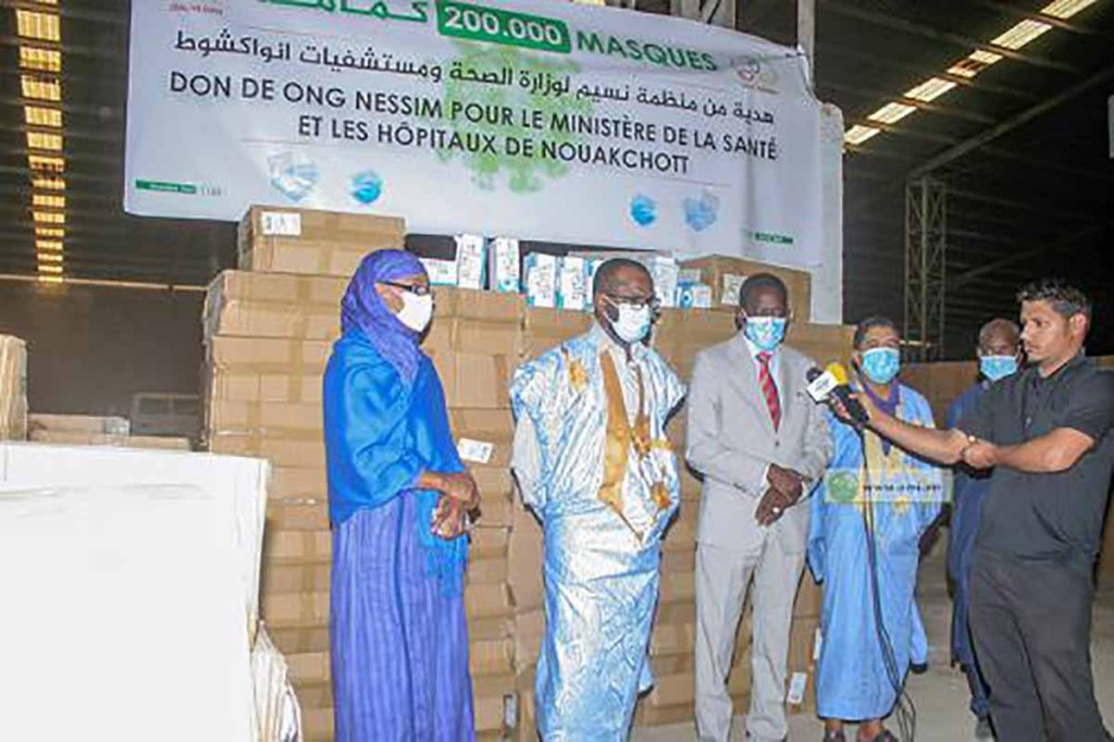 """Don de masques de l'ONG """"Nessim"""" au ministère de la Santé"""