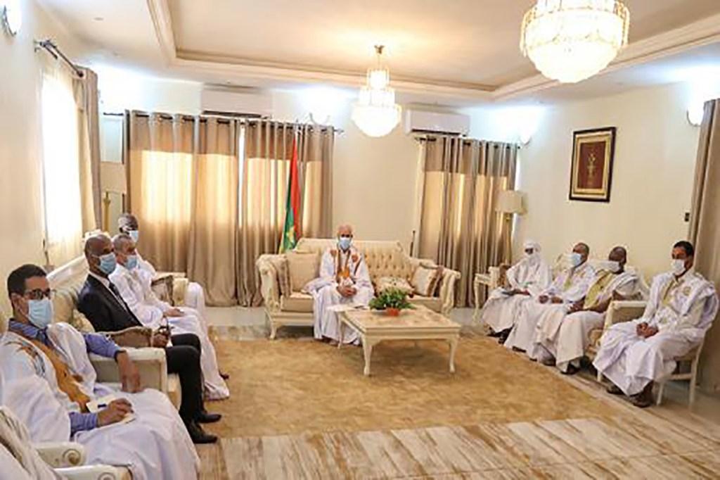 Le Président Ghazouani a rencontré les ressortissants mauritaniens au Niger